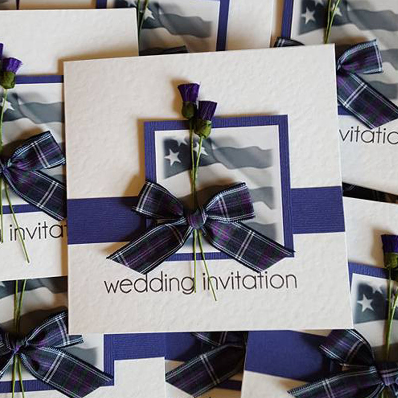 Scottish American Wedding Invitations Truly Madly Weddings